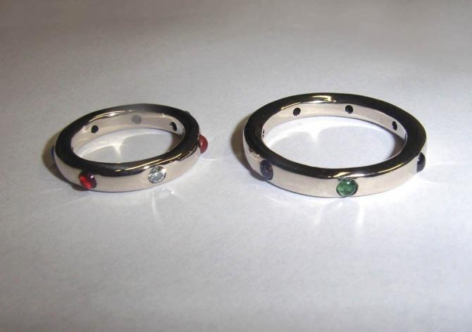 astro snubní prteny - 1. foto