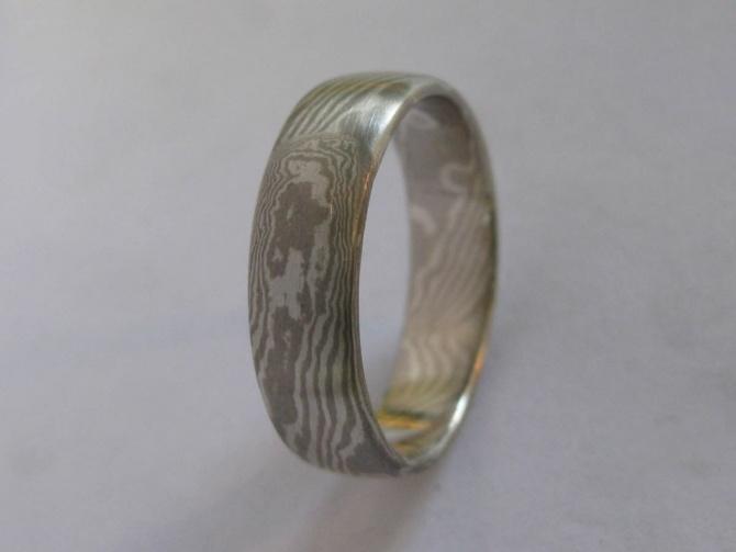 Mokume Gane prsten pánský - 2. foto