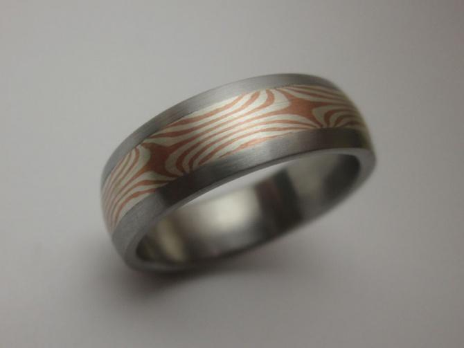 Prsten s mokume gane inlayí - 1. foto
