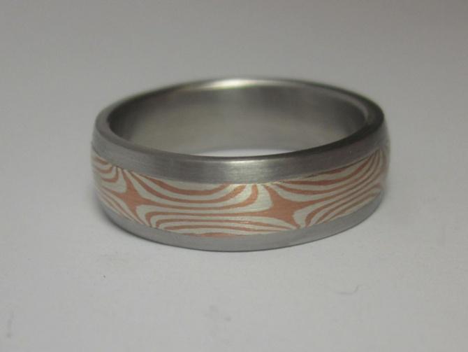 Prsten s mokume gane inlayí - 2. foto