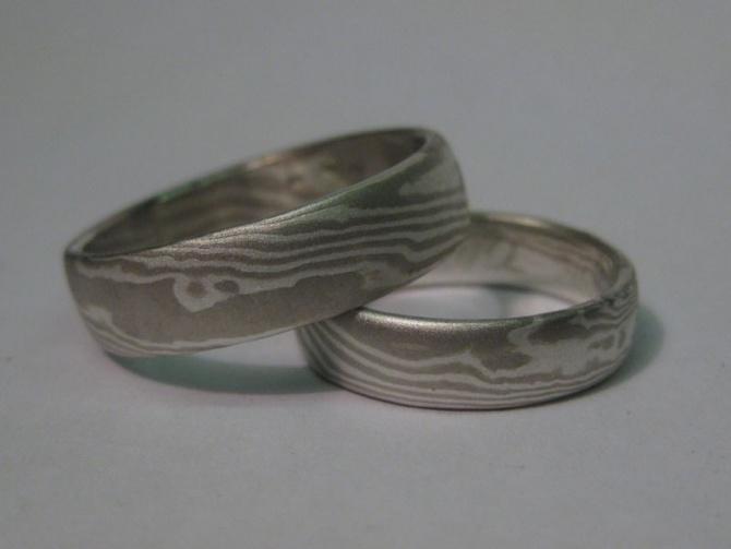 mokume gane  prsteny snubní - 2. foto