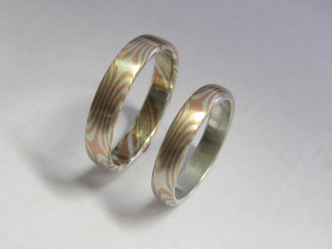 mokume gane   prsteny - 1. foto