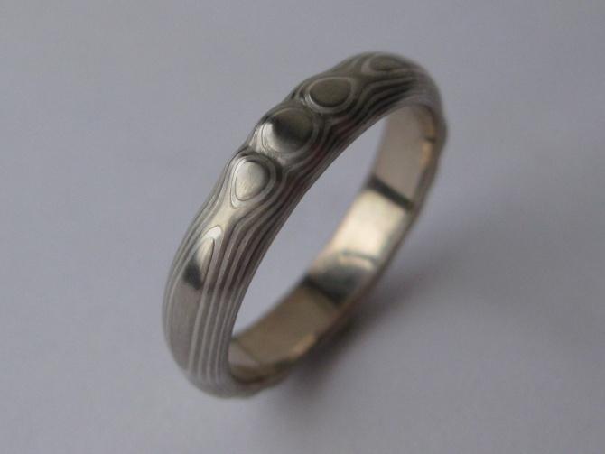 Elegantní mokume gane prsten - 1. foto