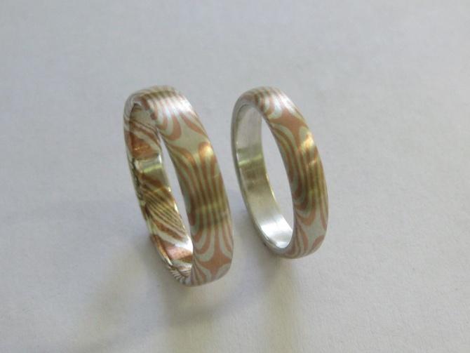 mokume gane   prsteny - 2. foto