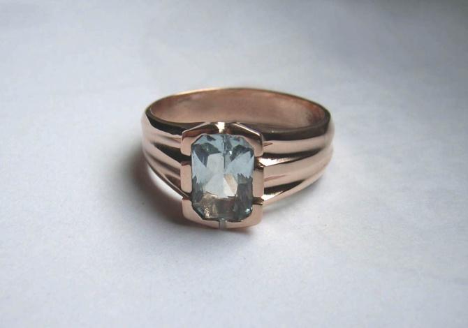 prsten s akvamarinem - 3. foto