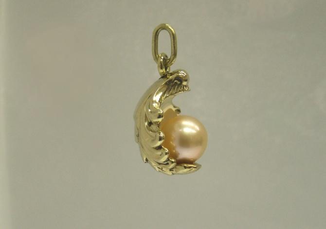 přívěsek s perlou - 1. foto