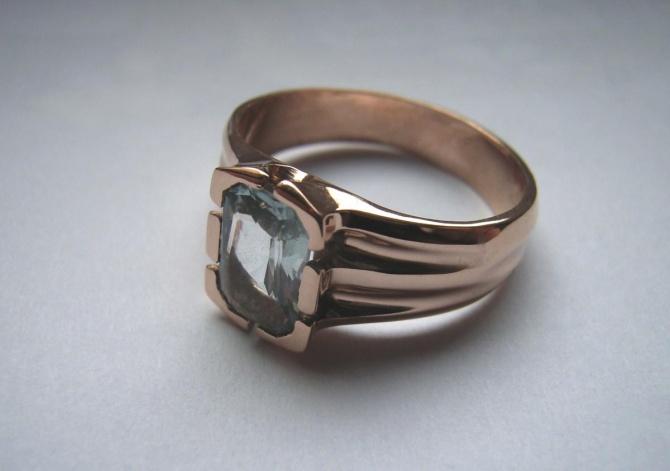 prsten s akvamarinem - 1. foto