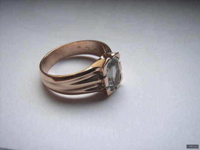 prsten s akvamarinem - 2. foto