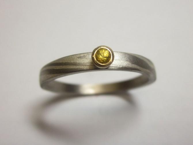zásnubní prsten se safírem - 3. foto