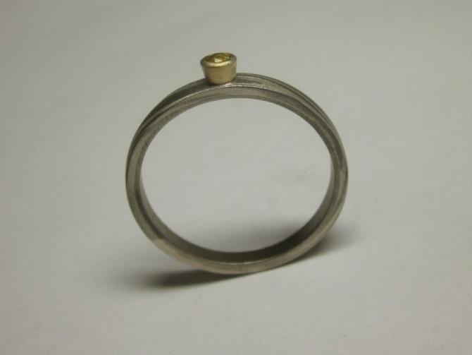 zásnubní prsten se safírem - 5. foto